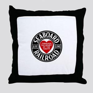 Seaboard RR Line Throw Pillow