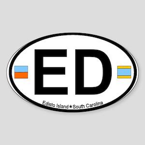 Edisto Island SC - Oval Design Oval Sticker