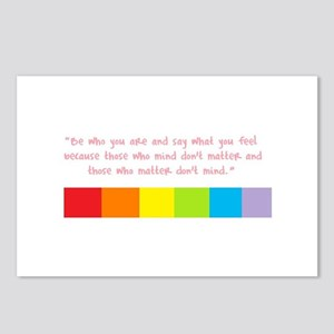 Be who you are Postcards (Package of 8)