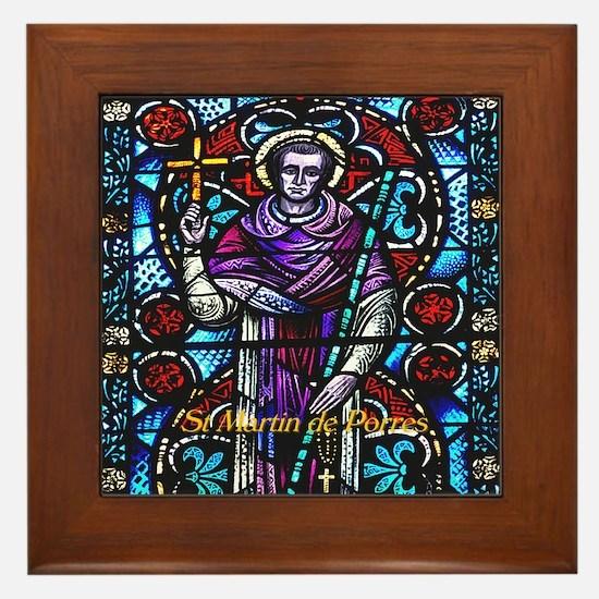 St Martin Porres Framed Tile