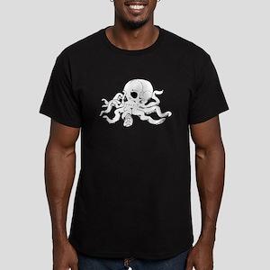 Skulltopus Men's Fitted T-Shirt (dark)