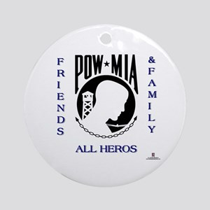 POW Friends and Family Ornament (Round)