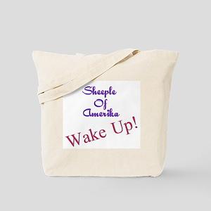 Sheeple Of Amerika WAKE UP! Tote Bag