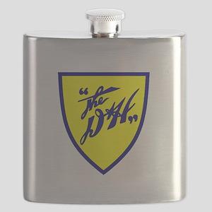 D&H railway shield Flask