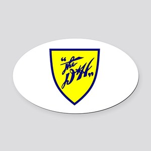 D&H railway shield Oval Car Magnet