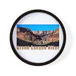 Grand Canyon Hiker Wall Clock