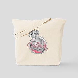 Proud Veteran Wife - With Dia Tote Bag
