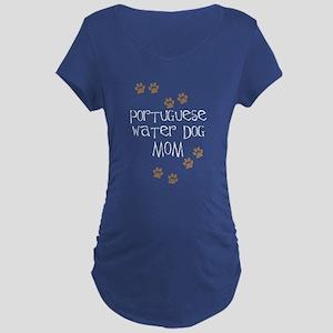 Portuguese Water Dog Mom Maternity T-Shirt