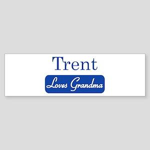 Trent loves grandma Bumper Sticker