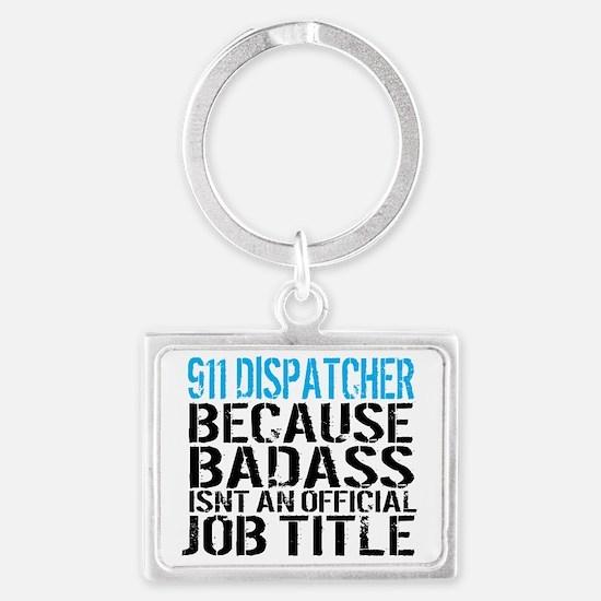 911 dispatcher Landscape Keychain