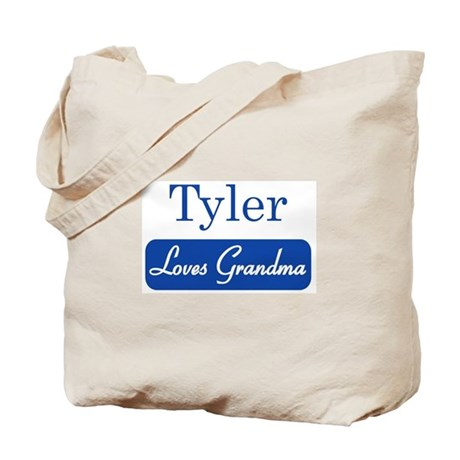Tyler loves grandma Tote Bag