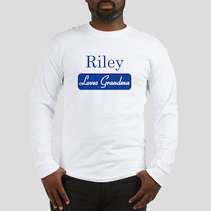 Riley loves grandma Long Sleeve T-Shirt