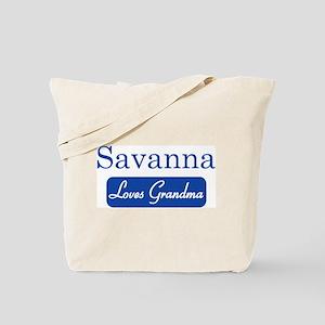 Savanna loves grandma Tote Bag