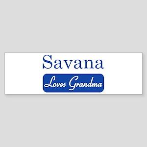 Savana loves grandma Bumper Sticker
