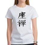 Zazen - Kanji Symbol Women's T-Shirt