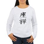 Zazen - Kanji Symbol Women's Long Sleeve T-Shirt