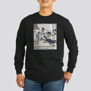 Hieronymus Bosch, Plumber Long Sleeve Dark T-Shirt