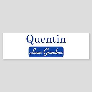 Quentin loves grandma Bumper Sticker