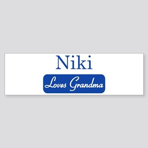 Niki loves grandma Bumper Sticker