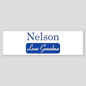 Nelson loves grandma Bumper Sticker