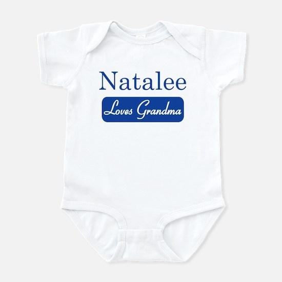 Natalee loves grandma Infant Bodysuit
