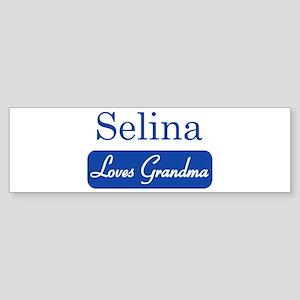 Selina loves grandma Bumper Sticker