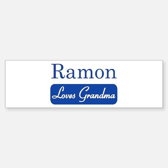 Ramon loves grandma Bumper Bumper Bumper Sticker