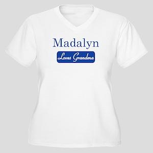 Madalyn loves grandma Women's Plus Size V-Neck T-S
