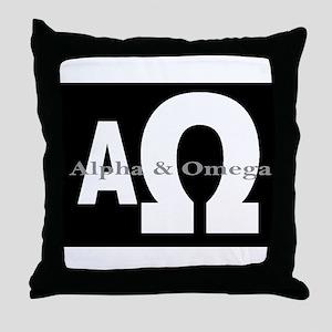 Alpha & Omega Throw Pillow