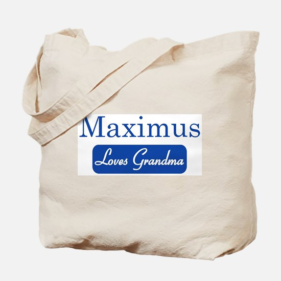 Maximus loves grandma Tote Bag