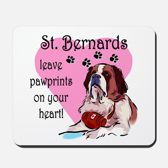 St. Bermard Pawprints Mousepad