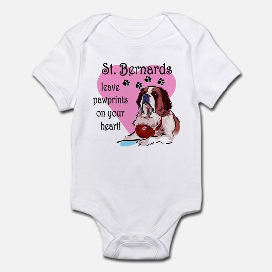 St. Bermard Pawprints Infant Creeper