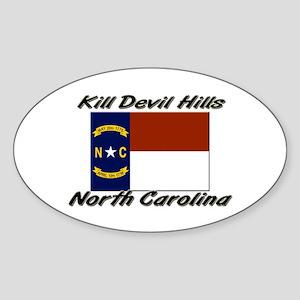 Kill Devil Hills North Carolina Oval Sticker