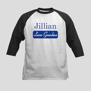 Jillian loves grandma Kids Baseball Jersey