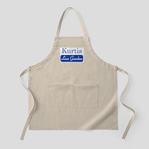 Kurtis loves grandma BBQ Apron