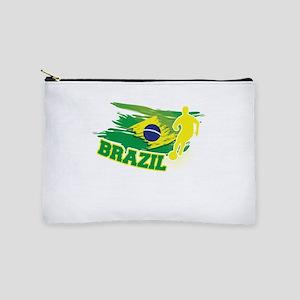 Football Worldcup Brazil Brazilian Socc Makeup Bag