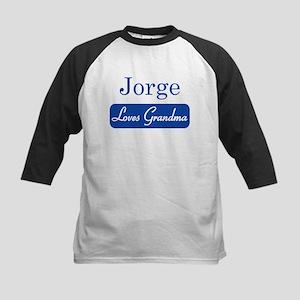Jorge loves grandma Kids Baseball Jersey