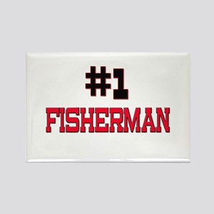 Number 1 FISHERMAN Rectangle Magnet
