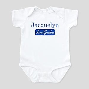 Jacquelyn loves grandma Infant Bodysuit