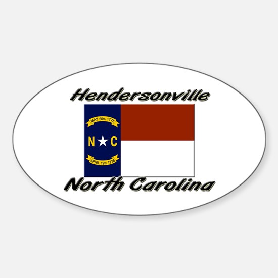 Hendersonville North Carolina Oval Decal