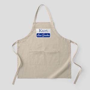 Kurt loves grandma BBQ Apron