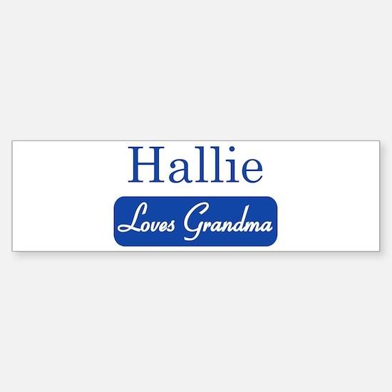 Hallie loves grandma Bumper Car Car Sticker