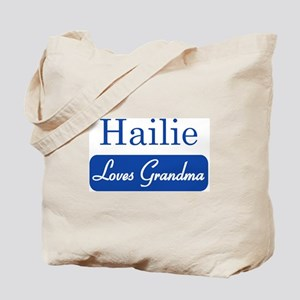 Hailie loves grandma Tote Bag