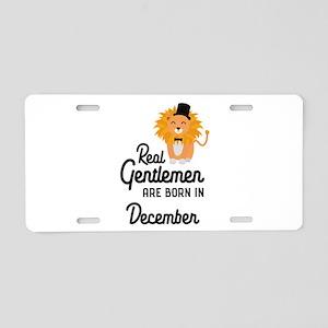Real Gentlemen are born in Aluminum License Plate