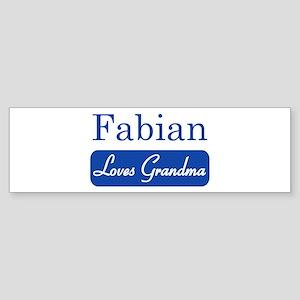 Fabian loves grandma Bumper Sticker