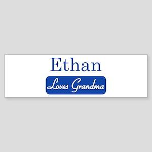 Ethan loves grandma Bumper Sticker