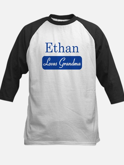 Ethan loves grandma Kids Baseball Jersey