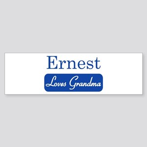Ernest loves grandma Bumper Sticker