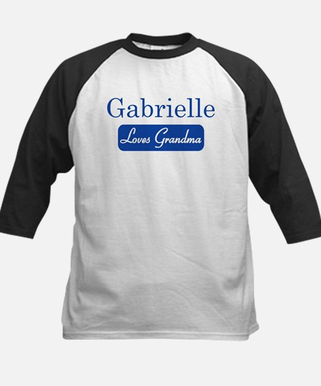 Gabrielle loves grandma Kids Baseball Jersey