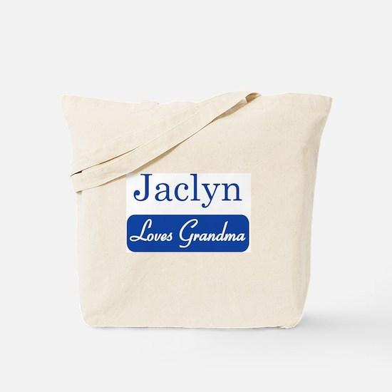 Jaclyn loves grandma Tote Bag